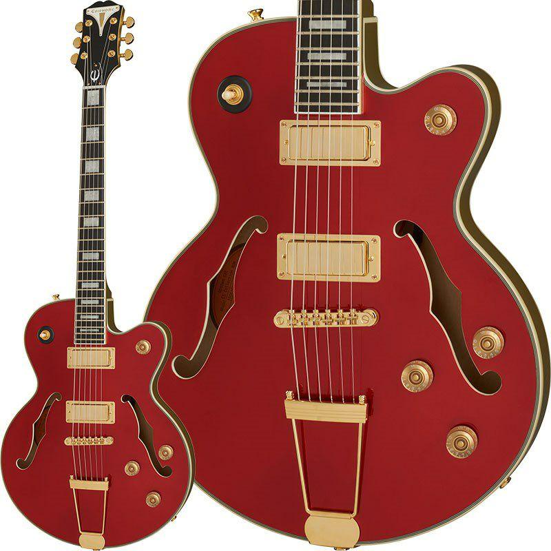 ギフト エピフォン エレキギター Epiphone 《エピフォン》 Uptown 人気の定番 Red Ruby Kat Metallic ES