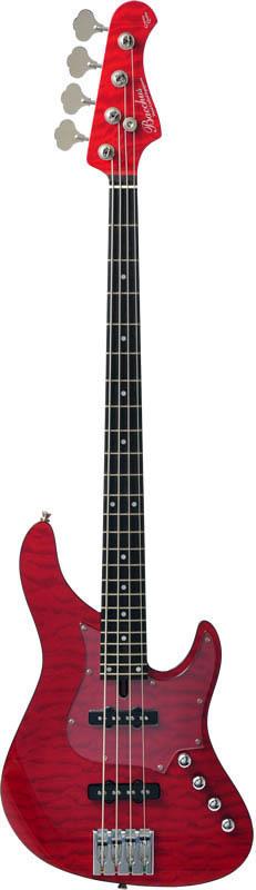Bacchus 《バッカス》 GLOBAL Series IKEBE ORIGINAL HWL4-CUSTOM24/MG [4-strings Bass] (STR/シースルーレッド)