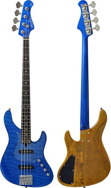 Bacchus 《バッカス》 GLOBAL Series IKEBE ORIGINAL HWL4-CUSTOM24/MG [4-strings Bass] (STB/シースルーブルー)