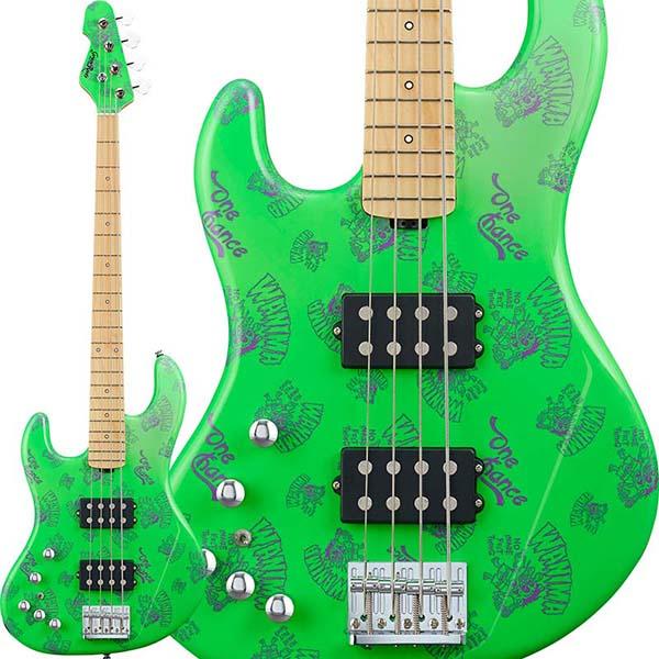 """Grass Roots 《グラスルーツ》 G-助平 """"バンドロゴ入り"""" Left Hand Model (Green) [WANIMA KENTA Model] 【受注生産品】"""