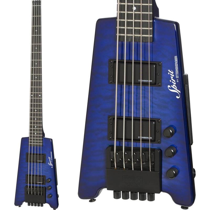 "STEINBERGER 《スタインバーガー》 Spirit XT-25 ""Quilt Top"" STANDARD 5-strings Bass (TL/Trans Blue)"