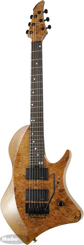 Abasi Guitars アバシ・ギターズ Custom6 Straight Fret Floyd Burl Maple Top / Ebony Fingerboard (Natural Stain)