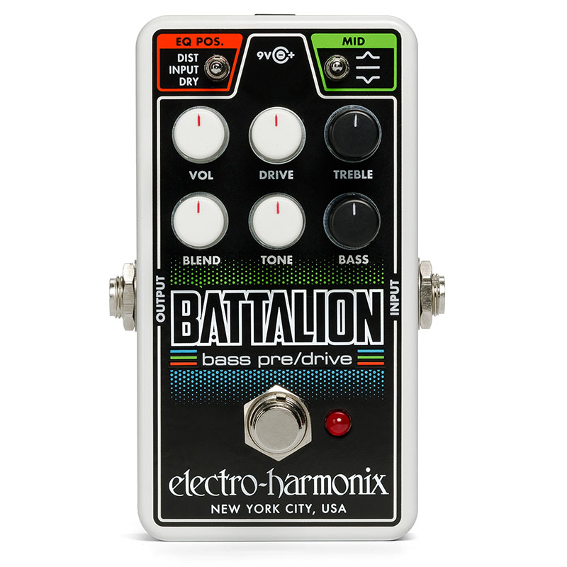 Electro Harmonix 《エレクトロ・ハーモニックス》 Nano Battalion [Bass Preamp&Overdrive]