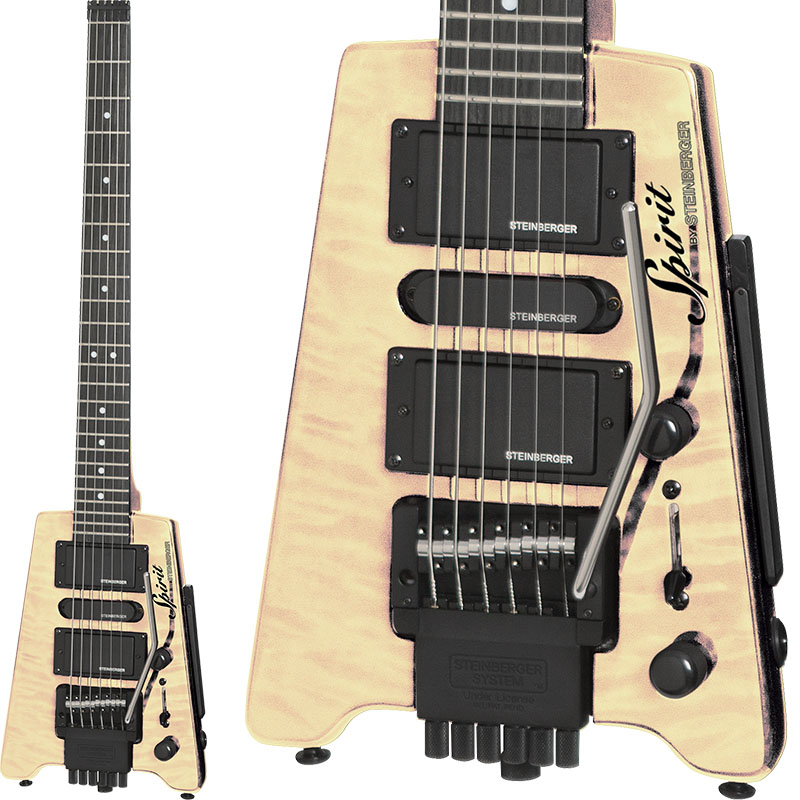 "SPIRIT by STEINBERGER 《スピリット by スタインバーガー》 Spirit GT-PRO ""QUILT TOP"" DELUXE (NA/Natural)"