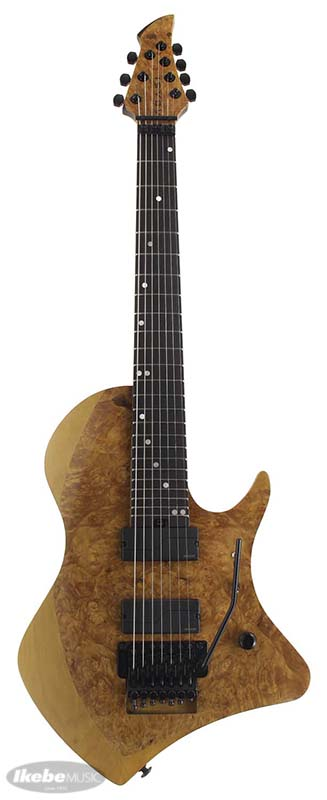 Abasi Guitars アバシ・ギターズ Larada7 Straight Fret Floyd Burl Maple Top / Ebony Fingerboard (Natural Satin)【トシン・アバシ氏直筆サイン入り】