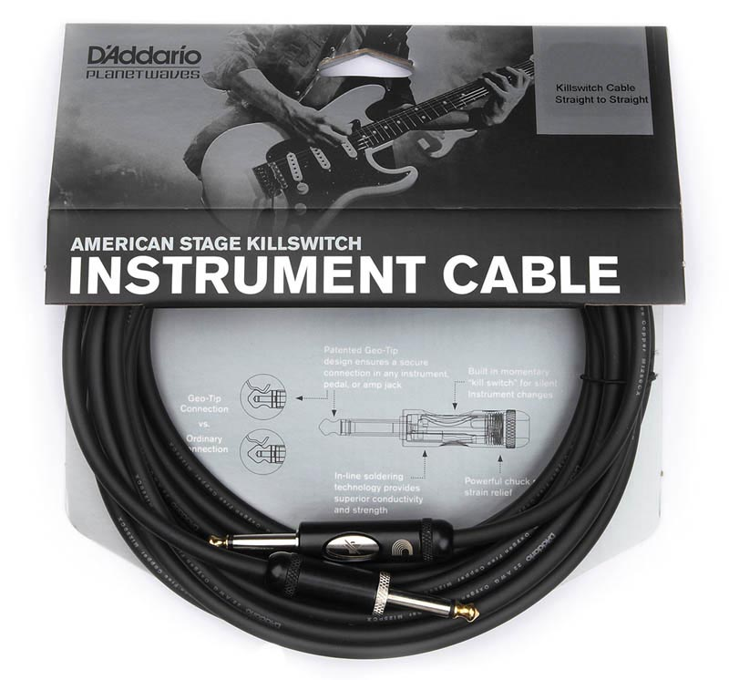 PLANET WAVES 《プラネットウェイブス》 American Stage Kill Switch Instrument Cable PW-AMSK-30 (30ft/9.1m S-S)