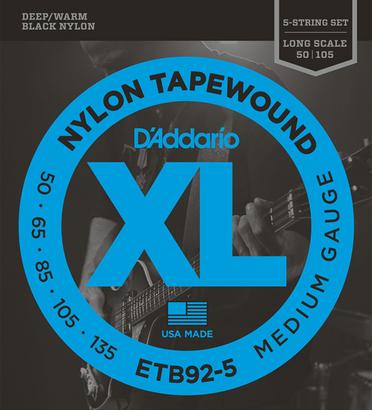 D'Addario 《ダダリオ》 Black Nylon Tapewound ETB92-5