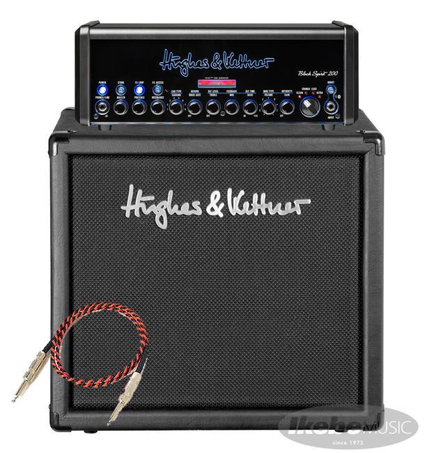 Hughes & Kettner 《ヒュース&ケトナー》 Black Spirit 200 + TM112 Cabinet【お買い得2点セット】Belden#9497 SPケーブル&専用キャリングバッグ付き