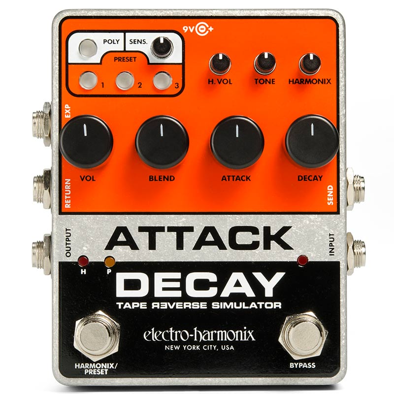 Electro Harmonix 《エレクトロ・ハーモニックス》 Attack Decay [Tape Reverse Simulater]