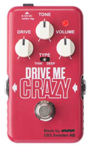 無料発送 EBS Drive Drive Crazy Me EBS Crazy [Distortion/Overdrive], 網走郡:33a24c71 --- ejyan-antena.xyz