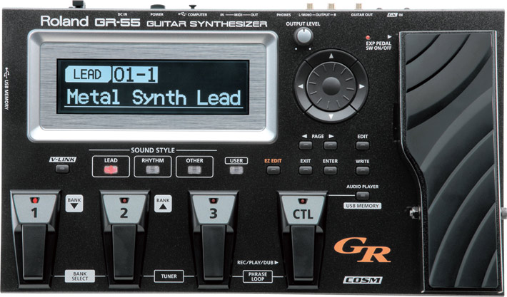 Roland 《ローランド》 GR-55S-BK Guitar Synthesizer