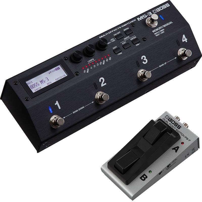 BOSS 《ボス》 MS-3 [Multi Effects Switcher] + FS-7 【デュアル・フットスイッチ】 SET 【TRSケーブルサービス!】
