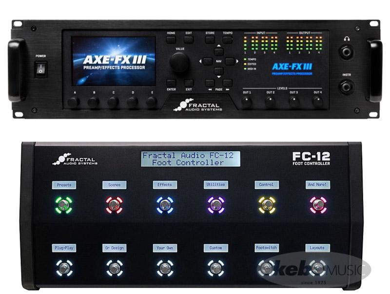 Fractal Audio Systems フラクタルオーディオ Axe-Fx III / FC-12 Foot Controller SET 【接続XLRケーブルサービス】