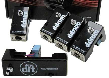 ddrum《ディードラム》 DRT Trigger Complete Kit [Double TransBD用x1 SD用x1 Tom用x3 パッケージ]