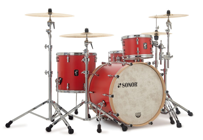SONOR 《ソナー》 SQ1-322:HRR [SQ1 Series / 22BD Shell Set(22BD・12TT・16FT):HOT ROD RED] 【お取り寄せ品】
