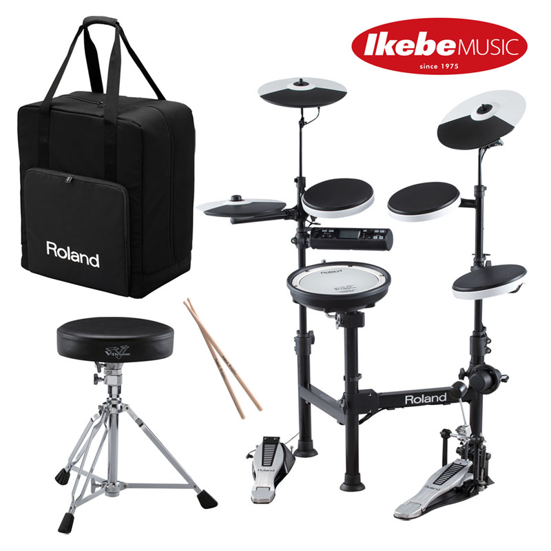 Roland 《ローランド》 TD-4KP-S [V-Drums Portable] + PDX-6 & MDH-12 [Snare Mesh Pad] + CB-TDP[Carrying Case]【イス&ペダル&スティック付属!】【台数限定特価品】