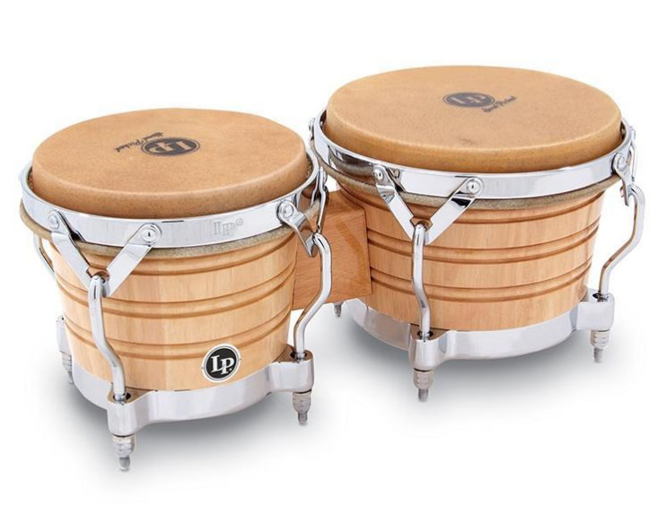 LP 《Latin Percussion》 LP201A-2 [Generation II Bongos With Traditional Rims, Natural/Chrome]【お取り寄せ商品】