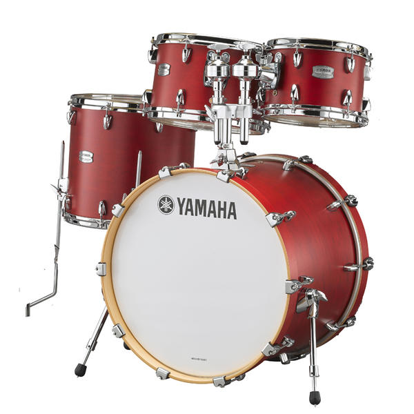 YAMAHA 《ヤマハ》 TMP2F4CAS [Tour Custom / All Maple Shell Drum Kit / BD22, FT16, TT12&10, ダブルタムホルダー付属/ キャンディアップルサテン]【お取り寄せ商品】