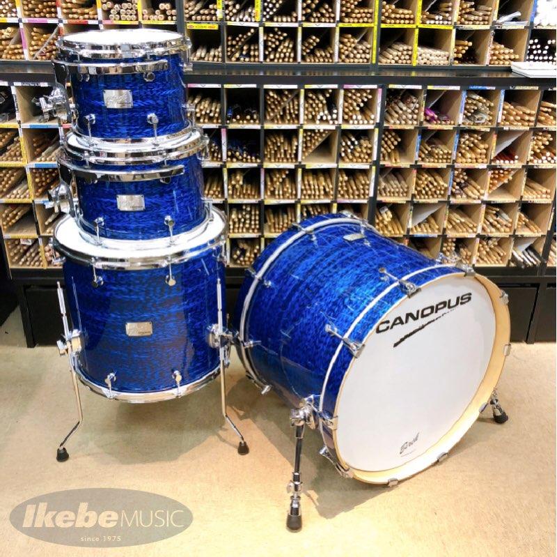 CANOPUS《カノウプス》 Birch Series 4pc Drum Set [Classic Kit 12 + BR04T-0810/ Blue Onyx Covering]【店頭入荷!】