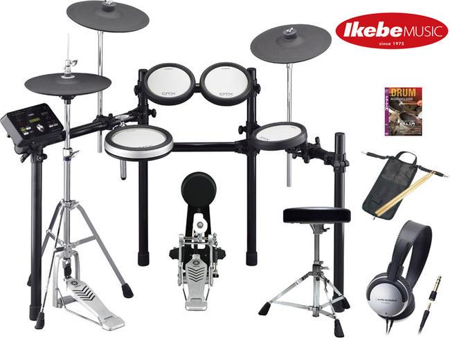 YAMAHA 《ヤマハ》 DTX562KFS [HiHat Stand Set Up+DTX Pad(Snare&Tom) / エレドラ本体 + イス(DS550U) + ペダル(FP6110A)] 【さらに、高音質再生ヘッドフォン&スティック&スティックバッグ&教則DVDの、4大特典付き!】【d_p5】