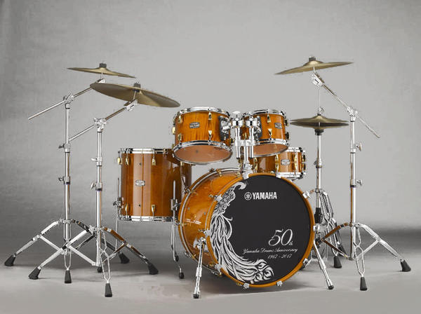 YAMAHA 《ヤマハ》 Yamaha Drums 50th Anniversary Drum Set [HM50CL / Curly Maple with Antique Natural] 【日本国内入荷5台】即納可能!
