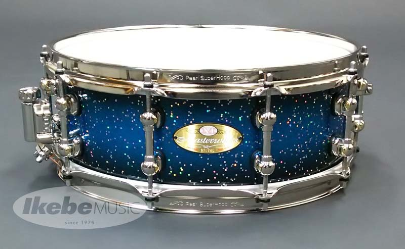 Pearl《パール》 MWA1450S N w/ Blue Sparkle Burst with Haloflake [Masterworks Sonic-Select Shell Recipes / URBAN] 【BLACK JAM Series Snare Drum Bag付属】