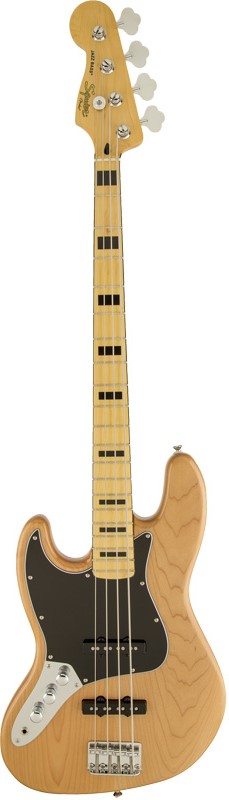Squier by Fender《スクワイヤーbyフェンダー》 Vintage Modified Jazz Bass 70s LeftHand (Natural) 【特価】