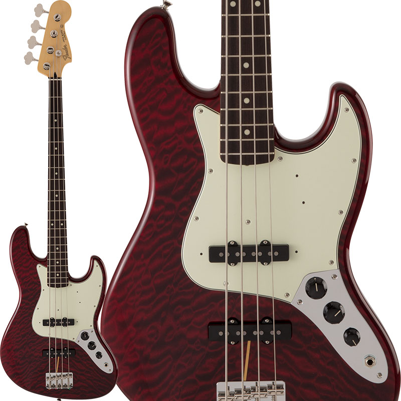 Fender Made in Japan Hybrid 《フェンダー》 FSR Hybrid 60s Jazz Bass Quilt Top (Transparent Red)【b_p5】