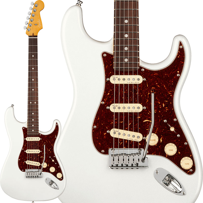 Fender 《フェンダー》 American Ultra Stratocaster (Arctic Pearl/Rosewood)