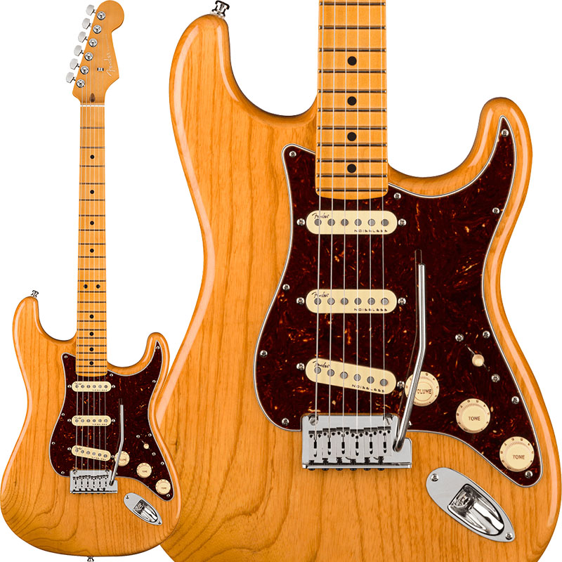 Fender 《フェンダー》 American Ultra Stratocaster Ash (Aged Natural/Maple)【生産完了!!】