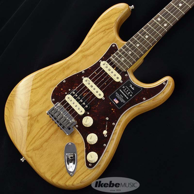 Fender 《フェンダー》 American Ultra Stratocaster HSS Ash (Aged Natural/Rosewood)【生産完了!!】