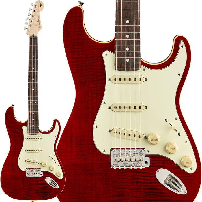 Fender《フェンダー》 Made in Japan Limited Edition Aerodyne Classic Stratocaster Flame Maple Top (Crimson Red Transparent)【g_p5】