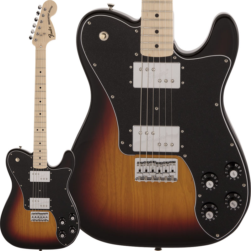 Fender Made in Japan《フェンダー》 Traditional 70s Telecaster Deluxe (3-Color Sunburst) 【数量限定!ギターアンプ VOX Pathfinder10プレゼント!!】 【g_p5】