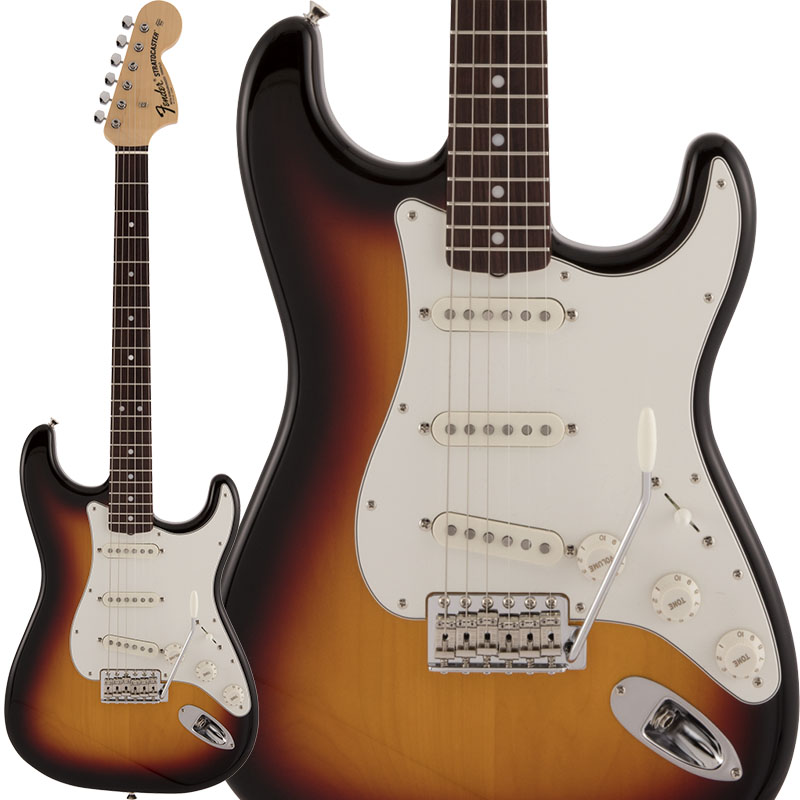 Fender Made in Japan《フェンダー》 Traditional Late 60s Stratocaster (3-Color Sunburst) 【数量限定!ギターアンプ VOX Pathfinder10プレゼント!!】【g_p5】