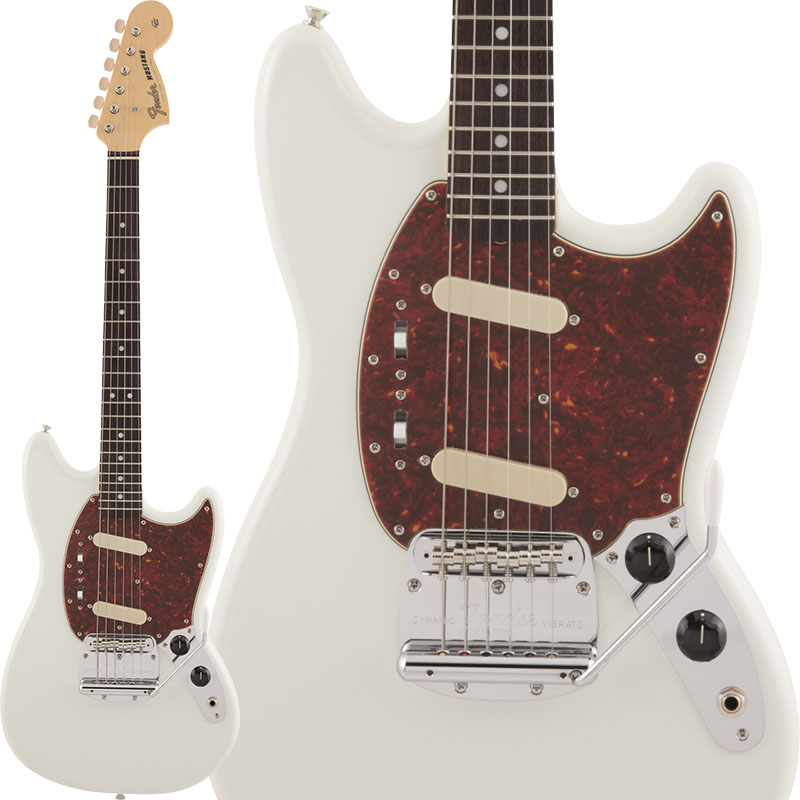 Fender Made in Japan《フェンダー》 Traditional 60s Mustang (Olympic White) 【数量限定!ギターアンプ VOX Pathfinder10プレゼント!!】【g_p5】