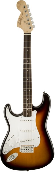 Squier by Fender 《スクワイヤーbyフェンダー》 Affinity Series Stratocaster Left-Handed (Brown Sunburst/Laurel Fingerboard)【g_p5】