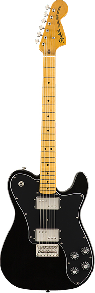 Squier by Fender 《スクワイヤーbyフェンダー》 Classic Vibe '70s Telecaster Deluxe (Black/Maple Fingerboard)【g_p5】