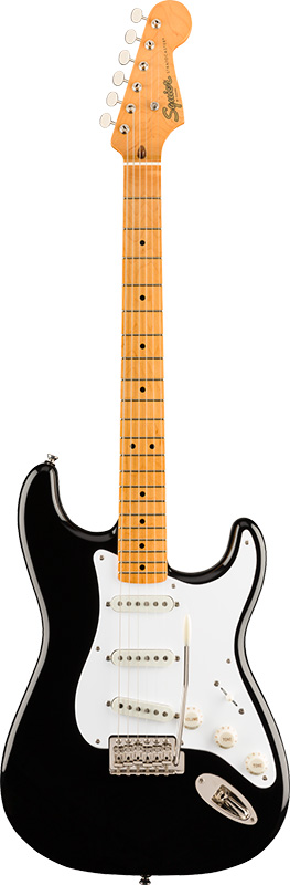 Squier by Fender 《スクワイヤーbyフェンダー》 Classic Vibe '50s Stratocaster (Black/Maple Fingerboard)【g_p5】