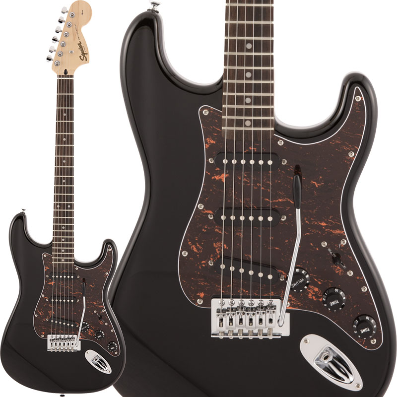 Squier by Fender 《スクワイヤーbyフェンダー》 Affinity Series Stratocaster with Tortoiseshell Pickguard (Black/Laurel Fingerboard)【g_p5】