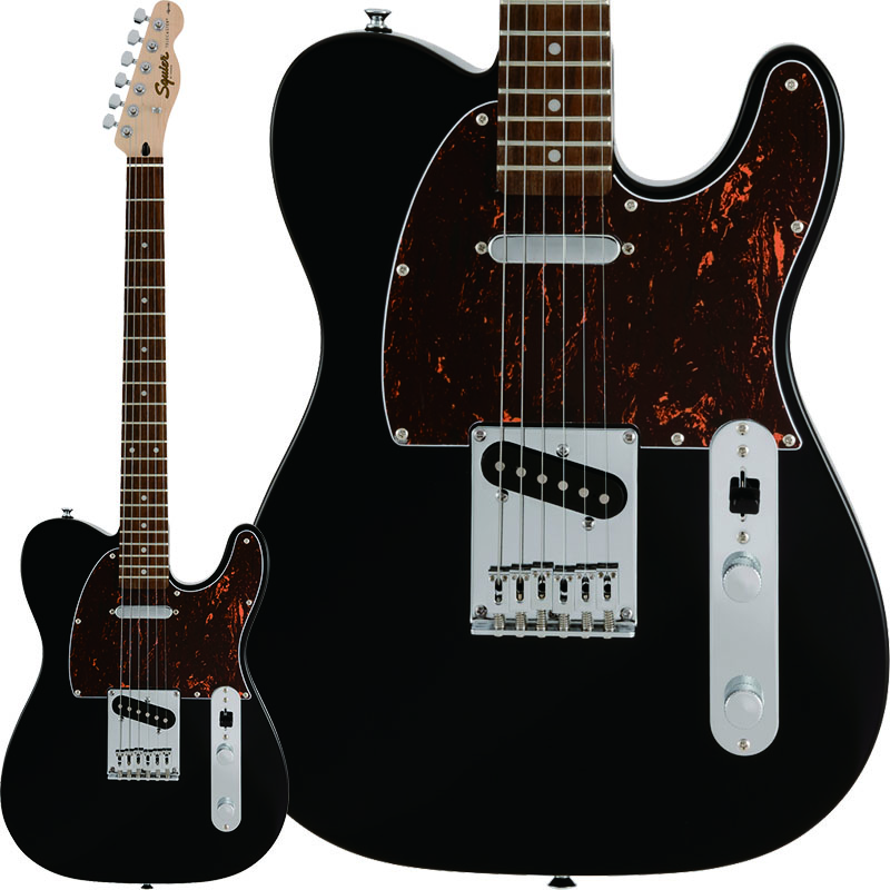 Squier by Fender 《スクワイヤーbyフェンダー》 Affinity Series Telecaster with Tortoiseshell Pickguard (Black/Laurel Fingerboard) [限定カラー]【g_p5】