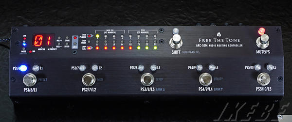 Free The Tone ARC-53M AUDIO ROUTING CONTROLLER 【BLACK COLOR MODEL】【最新Version 2.0】【ef_p5】