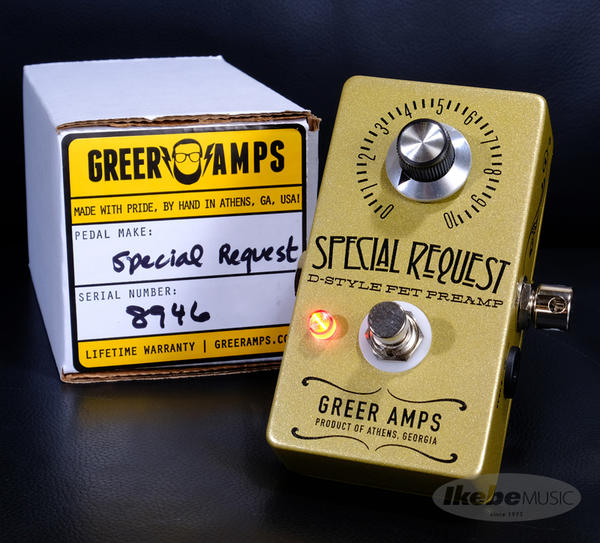 Greer Amps SPECIAL REQUEST D-STYLE FET PREAMP