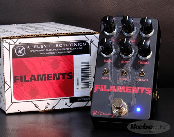 Keeley Electronics 《キーリー》 Filaments [High Gain Distortion] 【今がチャンス!円高還元セール!】