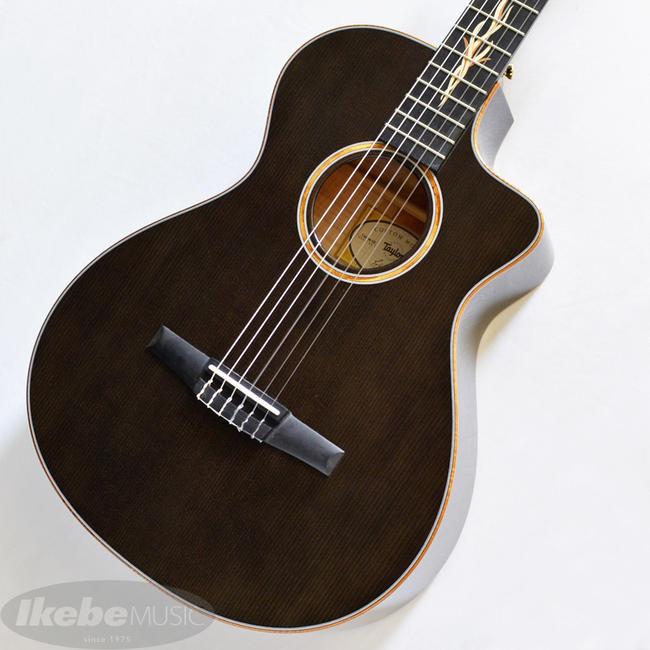 TAYLOR 《テイラー》 Custom GCce-Nylon AA Flame Maple/Hawaiian Koa 3-Piece Transparent Black [エレガット]【ハートマンギターズ・オーダーモデル】