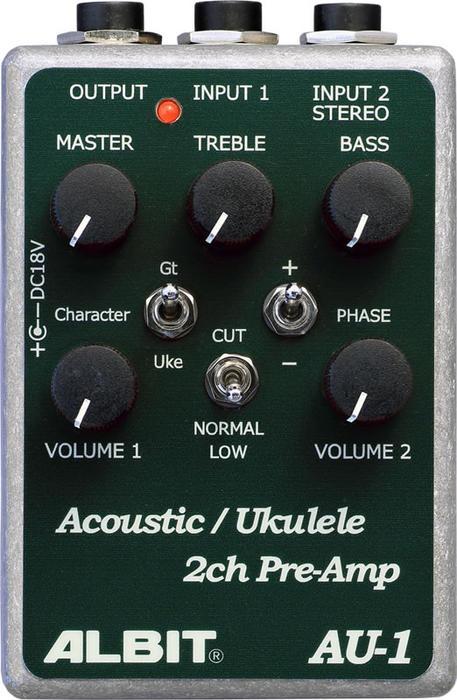 ALBIT 《アルビット》 AU-1 [Acoustic Guitar/Ukulele PRE-AMP]