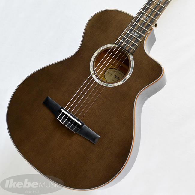 TAYLOR 《テイラー》 Custom GCce-Nylon AA Flame Maple/Hawaiian Koa 3-Piece Transparent Black