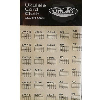 オルカス 大特価!! ウクレレコードクロス ORCAS クリーム CRM 数量は多 CLOTH-OUC