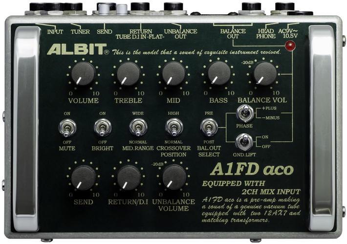 ALBIT 《アルビット》 A1FD aco [Acoustic Guitar/Bass PRE-AMP]
