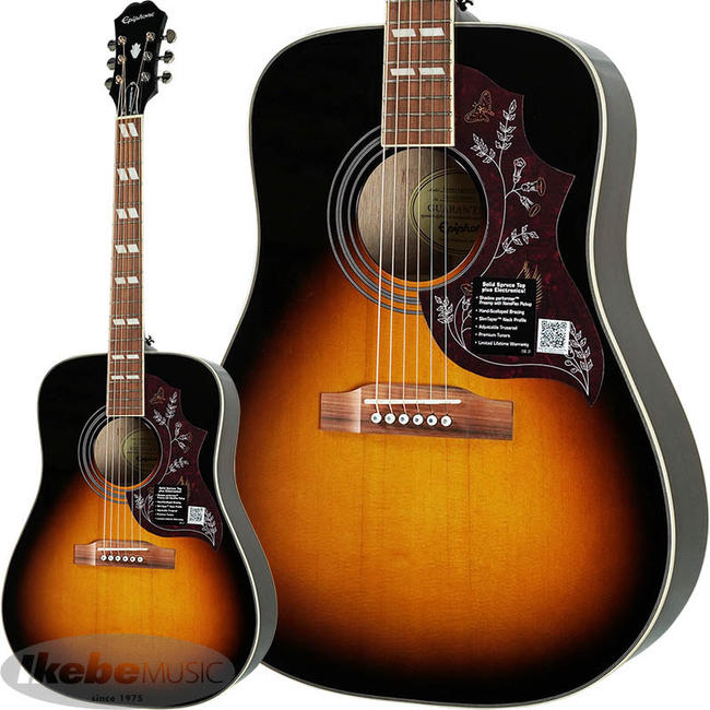 Epiphone by Gibson 《エピフォン》 Limited Edition Hummingbird PRO (VS) アコギ入門デラックスセット 【数量限定エピフォン・アクセサリーパック・プレゼント】【hb_ltd】