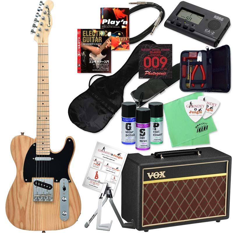 Compact Guitar 《コンパクトギター》 CTL-50s (NA/M) 【本格的ミニギター&選べるVOXアンプ・豪華20点入門セット】
